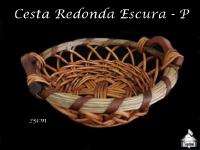 Cesta Redonda Escura 25X25cm - P