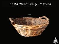 Cesta Redonda Escura 40X40cm - G
