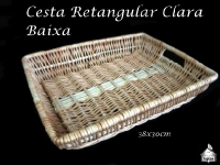 Cesta Retangular Clara Baixa 38X30cm