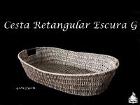 Cesta Retangular Escura 40x35cm - G