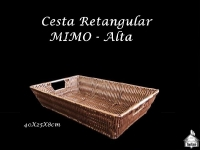 Cesta Retangular Mimo 40X25cm - 8cm Altura