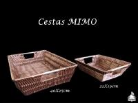 Cesta Retangular Mimo 40X25X8cm e 20X22X7cm