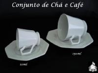 Conjunto de Chá e Café Oitavado
