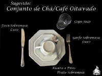 Conjunto Modelo - Chá/Café - Oitavado