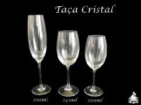 Taça Cristal - Espumante 200ml - Vinho Tinho-Agua 240ml - Vinho Branco 200ml