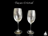 Taça Cristal Vinho Tinto-Água 240ml  - Taça Vinho Branco 200ml