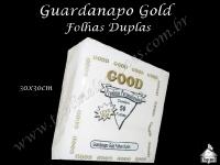 Guardanapo Gold Good 30x30cm Folhas Duplas