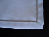 Guardanapo Panama Branco e Prata 45 X 45cm