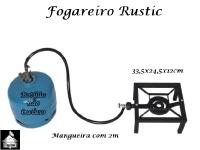 Fogareiro Rustic 33,5x24,5x12cm - Mangueira de 2m - Sem Botijão de Gás