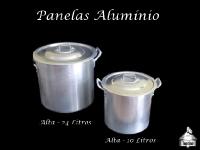 Panela Alumínio Alta 24 L. e 10,6 Litros