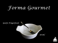 Forma Gourmet 180ml + Garfo Fingerfood Inox