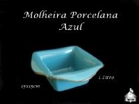 Molheira Porcelada 25X25cm - Azul