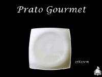 Prato Gourmet 27X27cm - (Porções - Canapés)