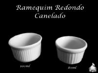 Ramequim Canelado 100ml e 80ml - Porcelana