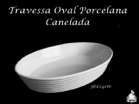 Travesa Porcelana Oval 36X24cm