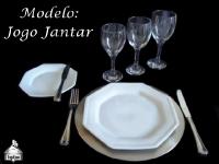 Modelo: Jogo Completo de Jantar - Modelo Oitavado TOP