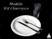 Modelo: Kit Churrasco (Prato + Garfo + Faca + Copo Long Drink)