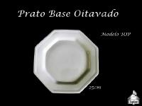 Prato Base Oitavado Porcelana 25X25cm - MODELO TOP