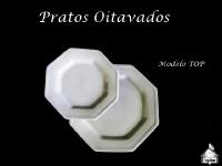 Prato Base Oitavado + Prato Sobremesa Oitavado - MODELO TOP