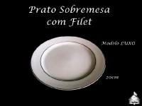 Prato Sobremesa com Filet 20X20cm - MODELO LUXO