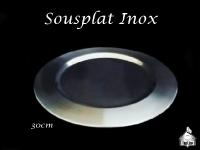 Sousplat Inox 30cm diâmetro