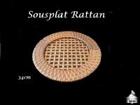 Sousplat Rattan - 34cm diâmetro