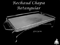 Rechaud Retangular de Chapa 37X23cm