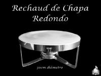 Rechaud Redondo de Chapa 30cm diâmetro