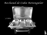 Rechaud Retangular com Cuba (1/3) Tripla