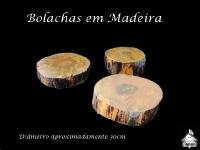 Bolachas/Disco em Madeiras - Aproximadamente 30cm de diâmetro