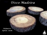 Disco Madeira - Aprox. 20cm diâmetro
