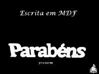 Escrita MDF - Parabéns 52x10cm