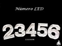 Números LED 22x20cm 1 ao 6