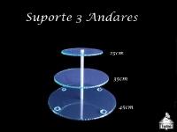 Suporte 3 Andares Porta Trufas-Docinhos-Bem Casados 45X35X25cm com espaço de 15cm altura