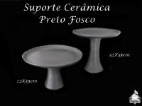 Suporte Cerâmica Preto Fosco