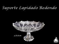 Suporte Lapidado Redondo 31cm diametro - 18cm altura