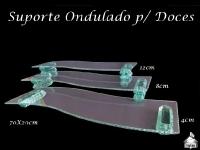Suporte para Doces ondulado 70X20cm - 4, 8 e 12cm de altura