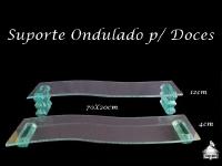 Suporte para Doces ondulado 70X20cm - 4 e 12cm de altura