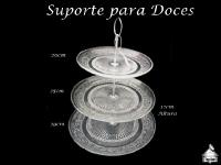 Suporte Trabalhado para Doces/Cupcake 29x25x20cm - 12cm altura