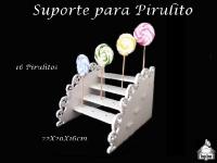 Suporte para Pirulito - 16 Lugares (Estrela ou Margarida)