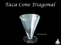 Taça Cone para Doce 20x165cm