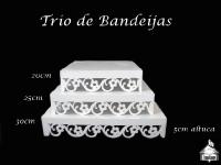 Trio de Bandejas 30-25-20cm (Estrela ou Margarida)