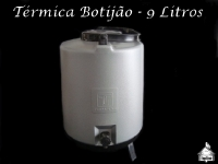 Garrafa Térmica 9 Litros Vermelha/Cinza/Azul