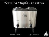 Térmica Dupla 6L. Café + 6L. Leite - Inox