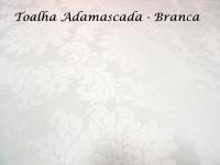 Toalha Redonda Adamascada - BRANCA - 2,80m de diâmetro