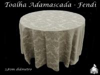 Toalha Redonda Adamascada - FENDI - 2,80cm de diâmetro