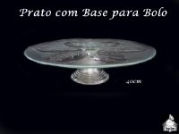 Prato com Base para Bolo/Torta 30cm diâmetro