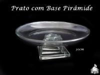 Prato com Base Pirâmide para Bolo/Torta 30cm diãmetro