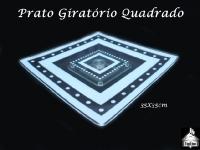 Prato com Base Pirâmide para Bolo/Torta 35x35cm