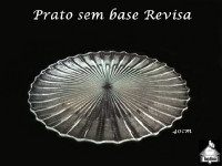 Prato Sem Base Revista 40cm diâmetro